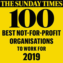 The Sunday Times 100 Best Not for profit organisation to work for 2019