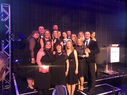 The Benenden Health team at the York Business Awards