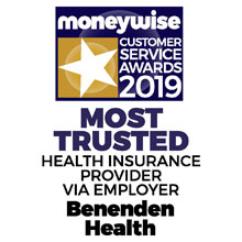 Moneywise Customer Service Awards 2019 - Most Trusted Health Insurance Provider via Employer
